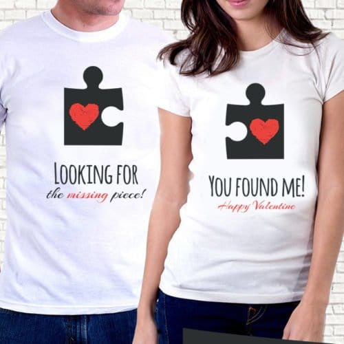 Coppia di t-shirt San Valentino
