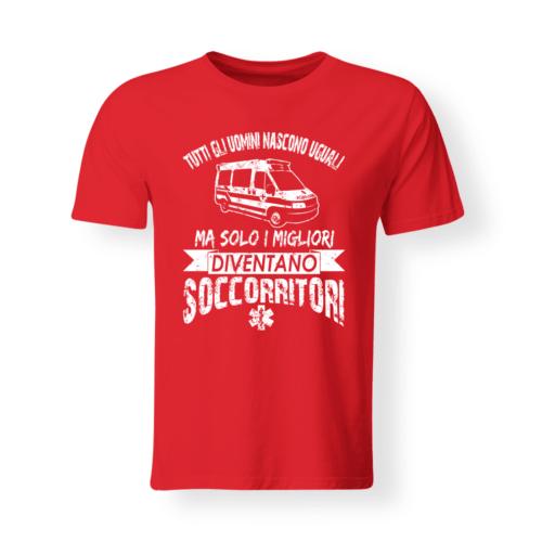 T-shirt Soccorritori Con Scritta Personalizzata