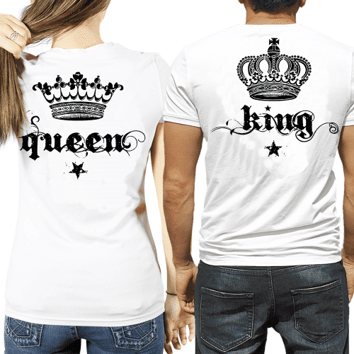 magliette Queen & King con corona