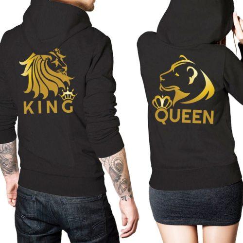 felpe di coppia unisex king & queen oro