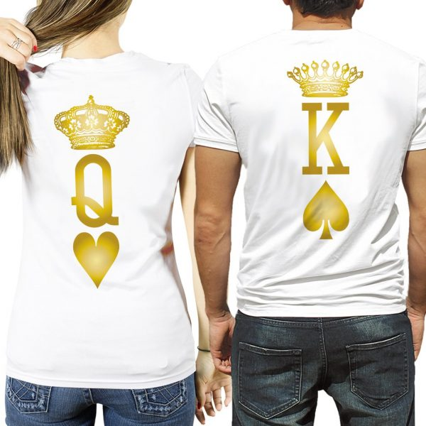 magliette King & Queen Lucky Love