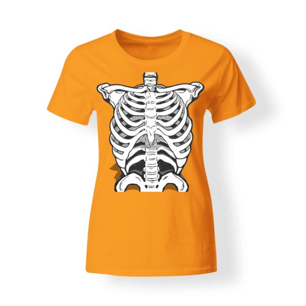 T-shirt donna Halloween Scheletro Torace