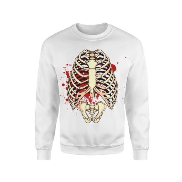 felpa uomo scheletro sangue