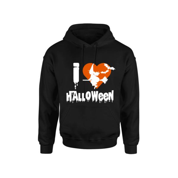 felpa uomo i love halloween