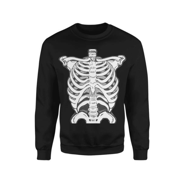 Felpa uomo halloween scheletro