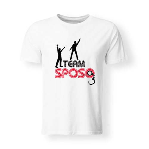 t-shirt divertente team sposo
