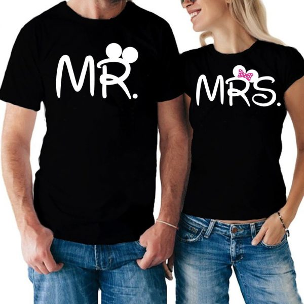 Coppia di t-shirt Mr & Mrs Linea You and Me