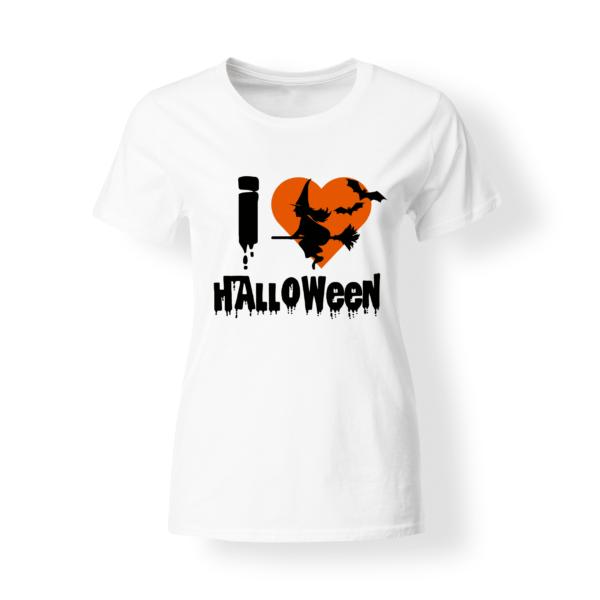 T-shirt donna I Love Halloween