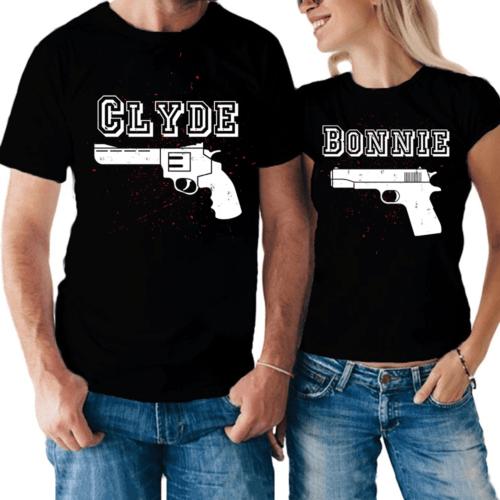 Coppia di magliette Bonnie & Clyde