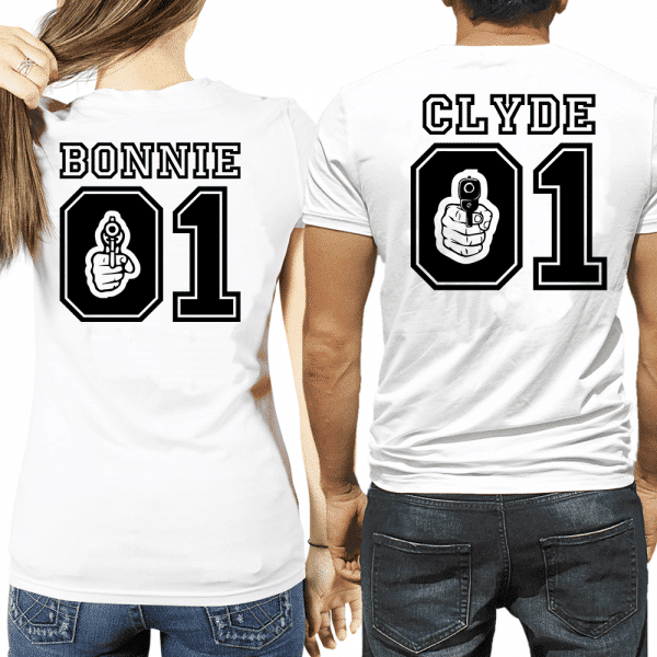 maglietta bonnie & clyde