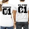 Coppia di magliette Bonnie & Clyde 01