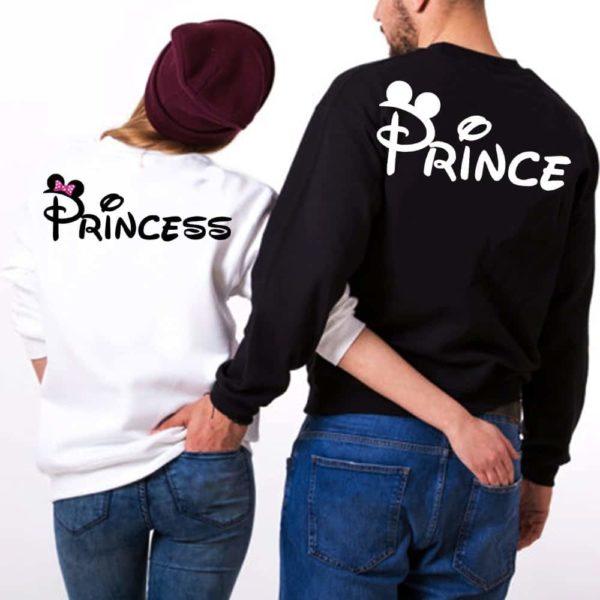 coppie felpe prince & princess