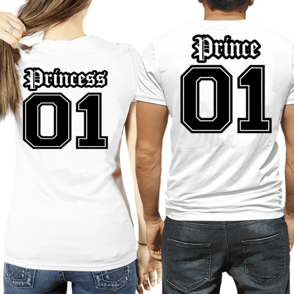 Coppia di magliette Prince & Princess