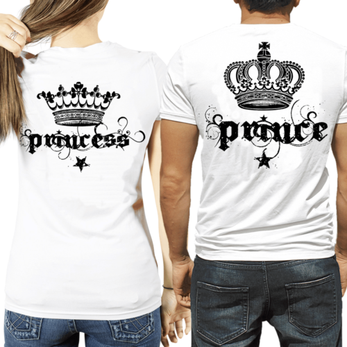 t-shirt Prince & Princess corona