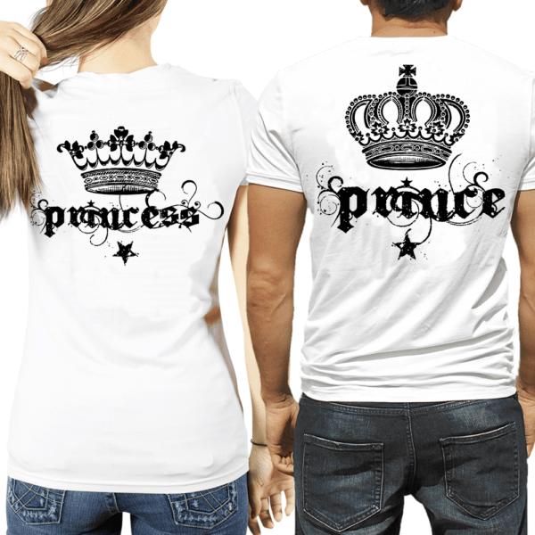 t-shirt Prince & Princess corona