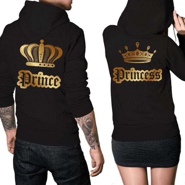 coppia felpe prince & princess