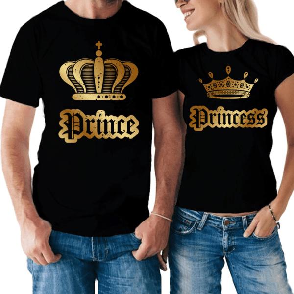 magliette Prince Princess corona