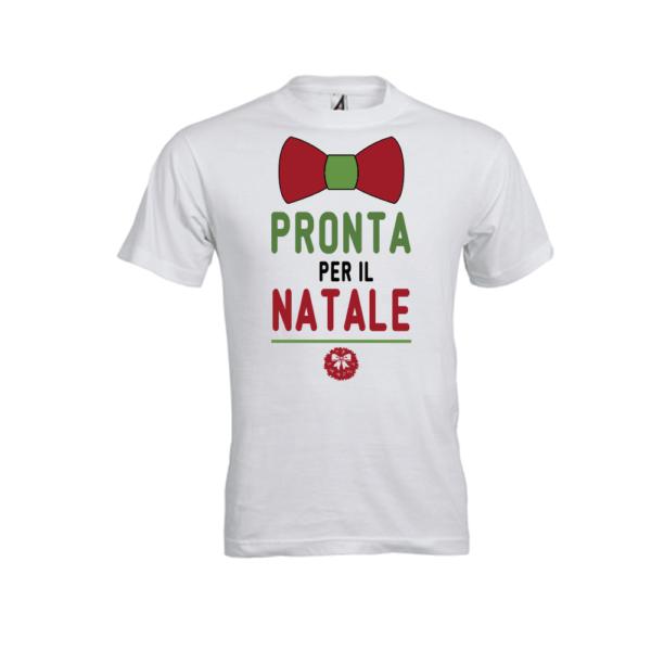 T-shirt bambina Pronta per Natale