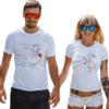 Coppia di t-shirt Magnete