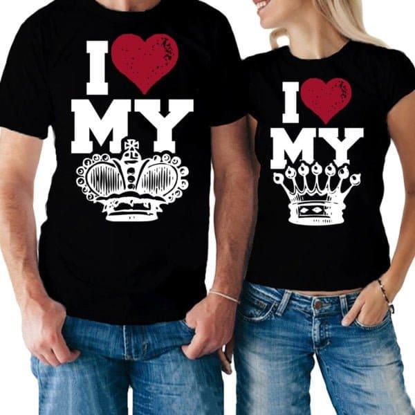 Coppia magliette King & Queen