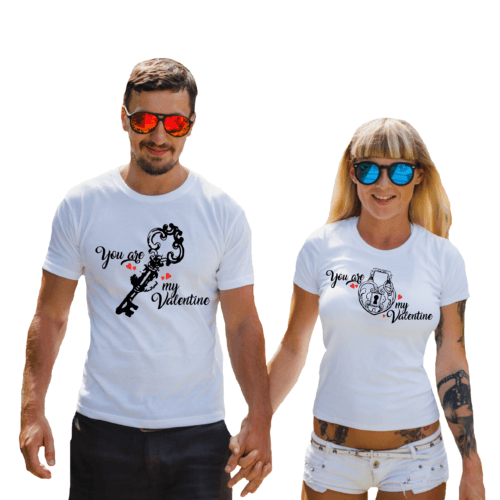 Coppia di t-shirt per San Valentino