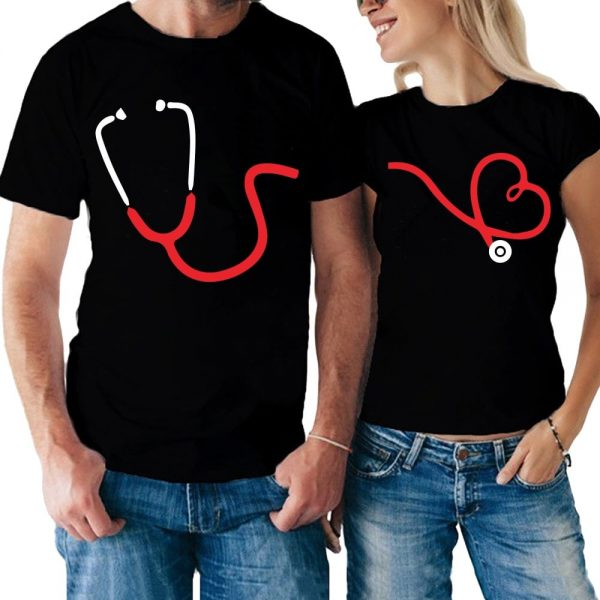 Coppia di t-shirt Listen To Love