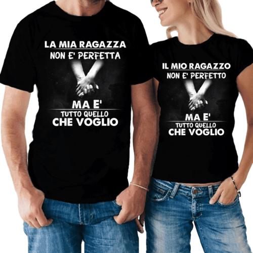 Coppia di t-shirt Ragazzo e Ragazza