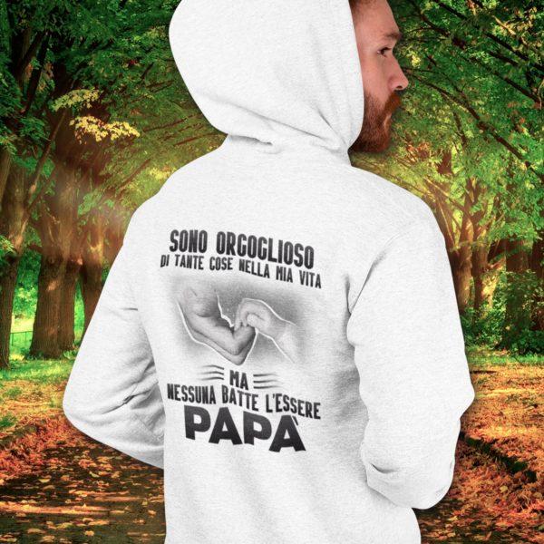 festa del papà felpa personalizzata