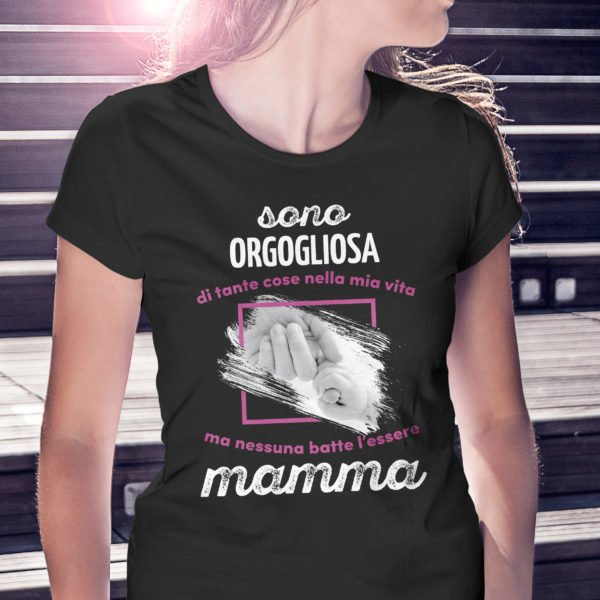 t-shirt mamma orgogliosa