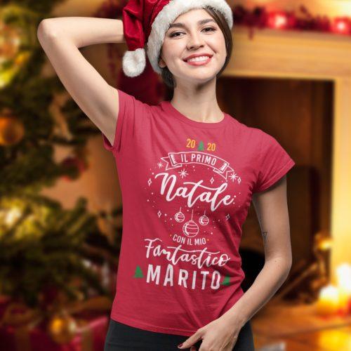 T-shirt Natale con mio marito
