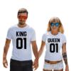 Coppia di magliette Queen & King 01