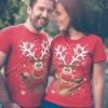 coppia t-shirt renna