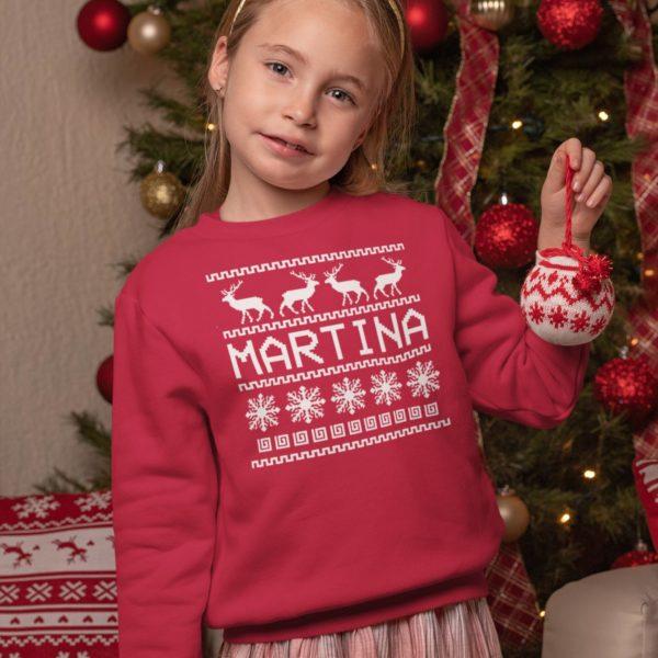 felpa natalizia bambina/o personalizzata