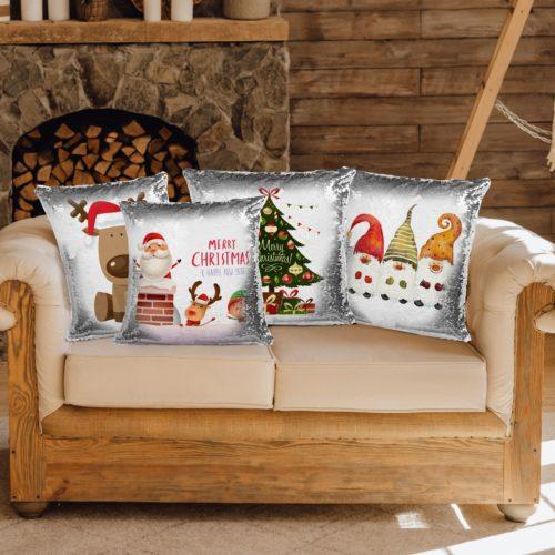 cuscini con pailettes decorativi