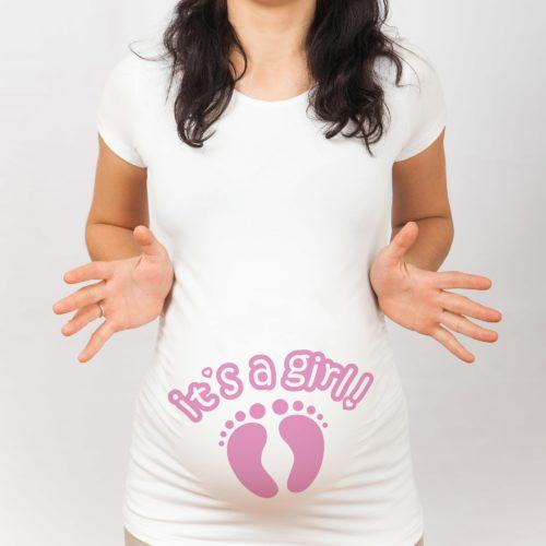 magliette premaman it's a girl
