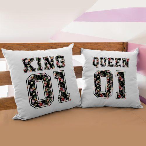 PRODOTTO: Coppia di Federe King & Queen Flower