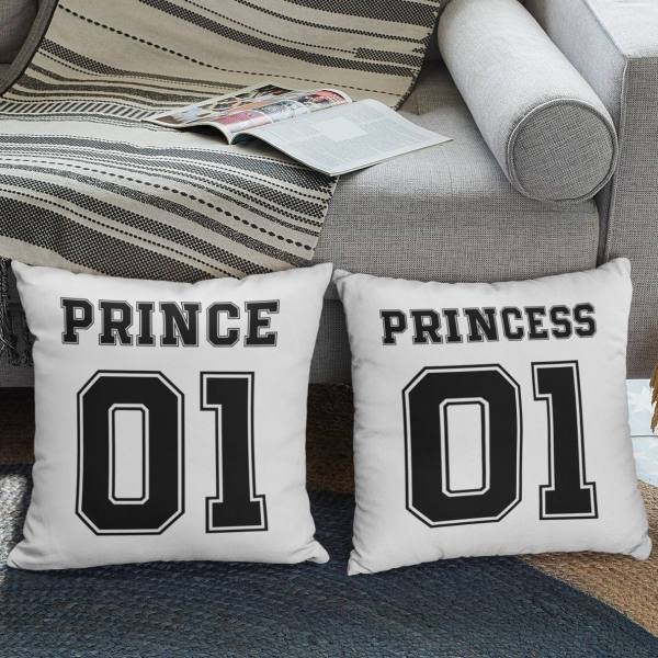 coppia di federe prince & princess