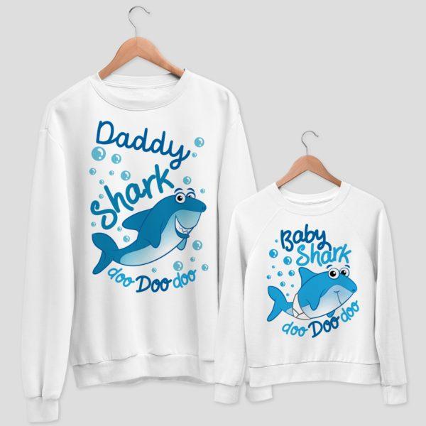 felpa daddy shark & baby shark