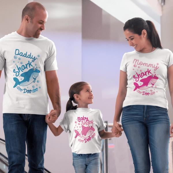 tris famiglia t-shirt