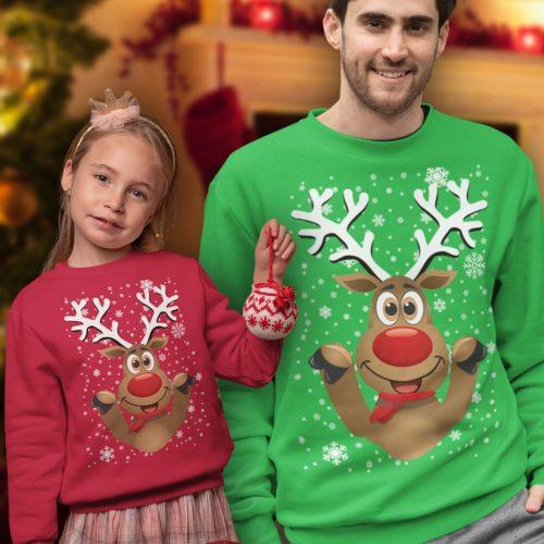 Felpa di Natale Papà e figlio